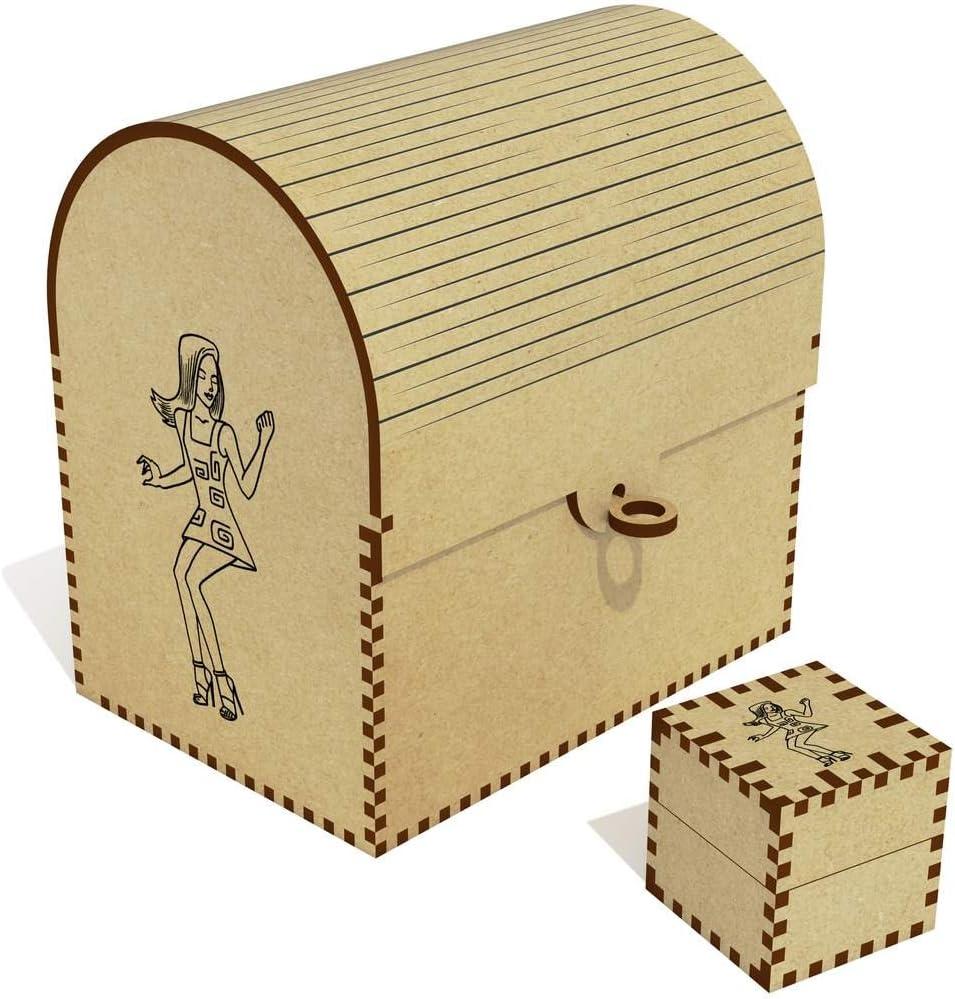 Azeeda Soldering 'Dancing Girl' Los Angeles Mall Treasure TC00007887 Jewellery Box Chest