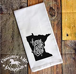 Kitchen Flour Sack Towel - Home Sweet Home Minnesota State