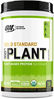 Optimum Nutrition Gold Standard 100% Plant Based Protein Powder, Vitamin C for Immune Support, Unflavored (1.42 Pound)