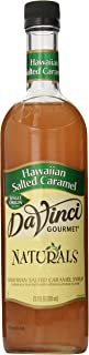 DaVinci Gourmet Naturals Syrup Hawaiian Salted Caramel, 23.67 Oz., Flavored Sweetener Syrup for Espresso Drinks, Tea, and Other Beverages, Suited for Home, Café, Restaurant, Coffee Shop