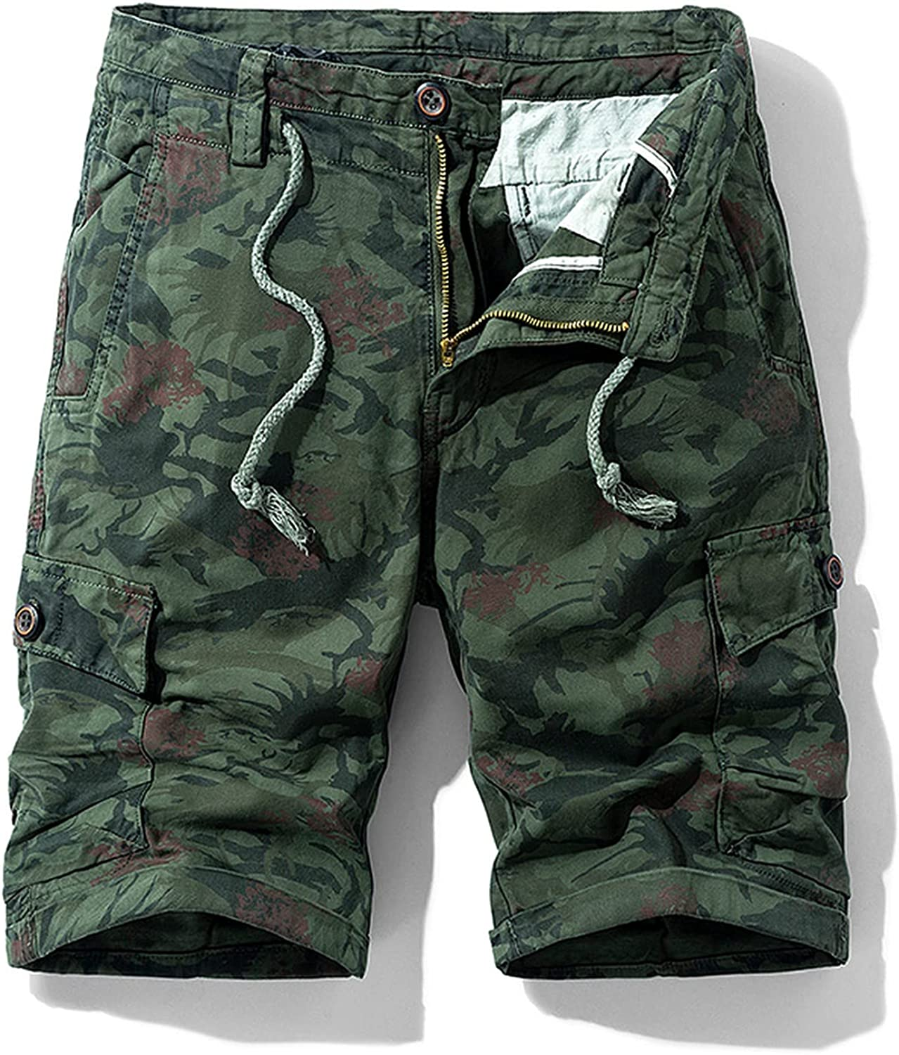 Dellk Mens Military Cargo Shorts New Army Camouflage Tactical Men Cotton Loose Work Casual Short Pants Plus Size