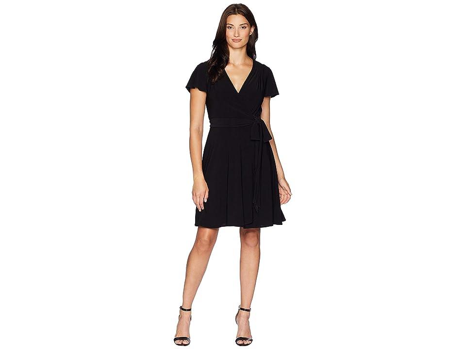 Tahari by ASL Knit Dress (Black) Women