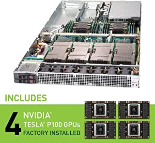 Supermicro SuperServer 1U 1029GQ-TXRT w/ 4X NVIDIA Pascal P100 GPU Factory Installed