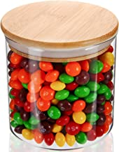 YULEER Airtight Food Storage Containers, 22OZ Glass Jars with Lids,Glass Jar for Serving Candy, Cookie, Rice,Food