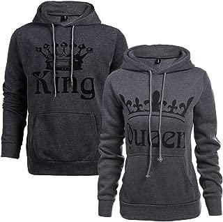 Women Couple Sweatshirt King Queen Pullover Hoodie