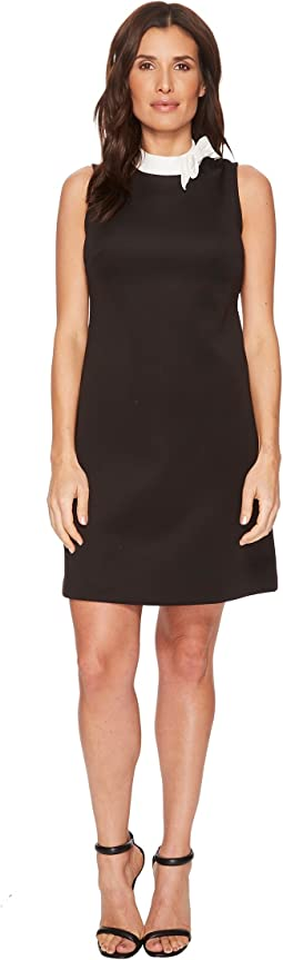 Ivanka Trump - Scuba Sleeveless A-Line Dress with Bow