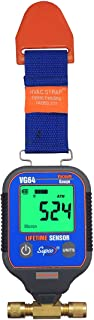 "Supco VG64 Vacuum Gauge, Digital Display, 0-12000 Microns Range, 10% Accuracy, 1/4"" Male Flare Fitting Connection"