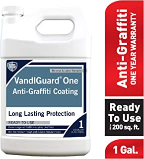 Rain Guard Water Sealers VG-7003 Vandlguardone Anti-Graffiti Coating 1 gal – Painted & Unpainted Concrete, Block, CMU, Brick, EIFS, Stucco, Wood & Painted Metal, Clear, Pail