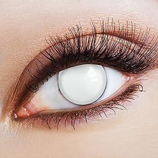 aricona Kontaktlinsen Gekleurde lenzen - witte jaarlenzen zonder sterkte - Halloween contactlenzen wit horror