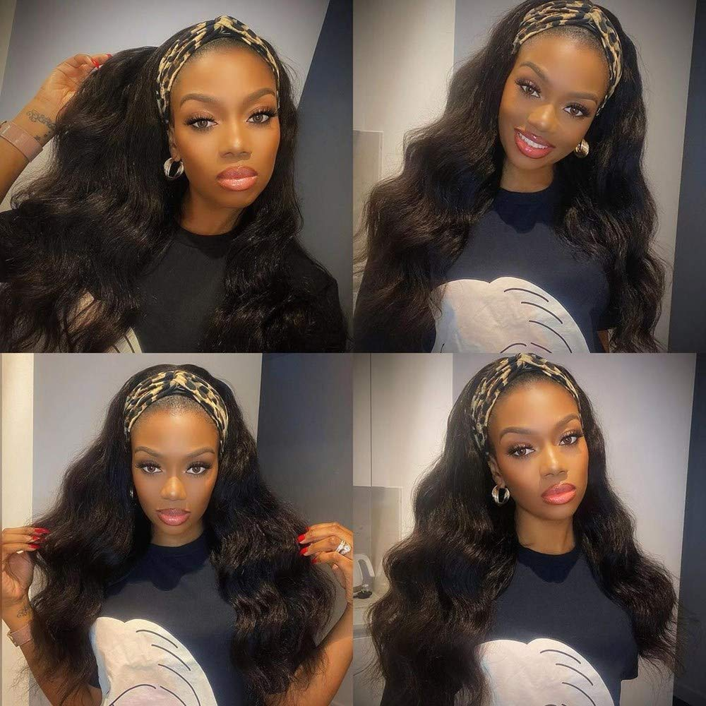 Headband Wig Human Hair with Challenge the lowest price of Japan for Super sale period limited Inc Black 22 Women