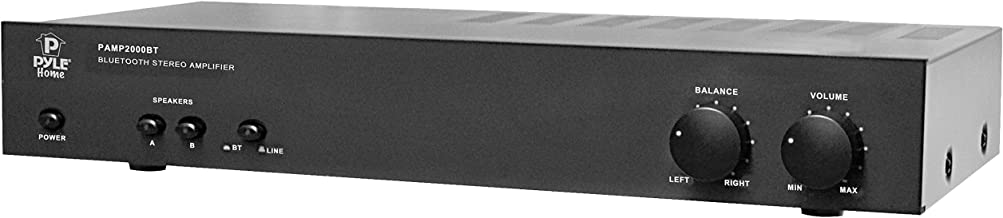 Pyle Bluetooth Stereo Amplifier - 240W Integrated Digital Home Power Amp with Dual Channel Design, Audio Control & Selector Switch - Supports Devices, such as Laptop, MP3, Smartphones - PAMP2000BT