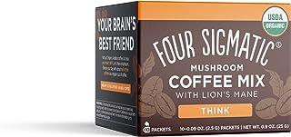 Four Sigmatic Foods Mushroom Instant Coffee, Organic and Fair Trade with Lions Mane, Chaga, & Mushroom Powder, Focus & Imm...