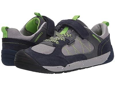Merrell Kids Bare Steps Alpine Sneaker (Little Kid) (Navy) Boy