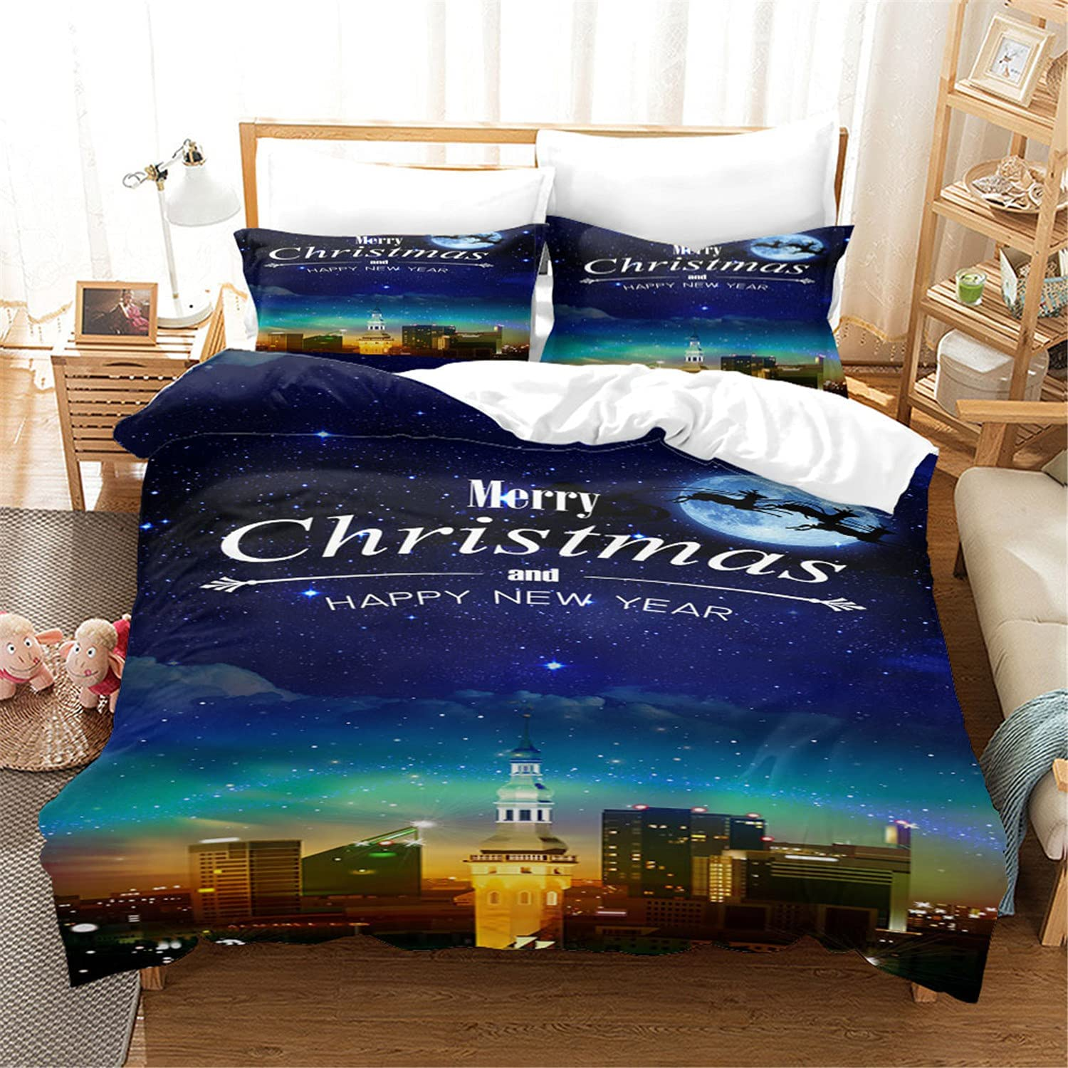 Max 58% OFF Christmas elk star down duvet 3D printing Recommendation cover doub