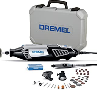 Dremel 4000 Rotary Tool 175W Multi Tool Kit (3 Attachments, 36 Accessories, Variable Speed 5,00035,000 RPM for Cutting, Ca...