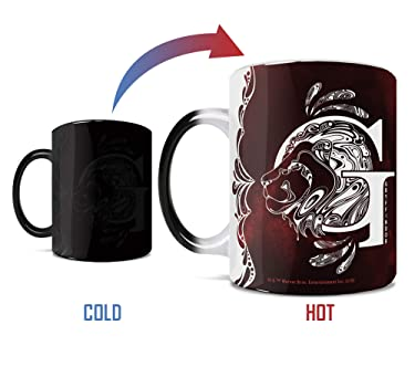 Harry Potter - Gryffindor - Aguamenti - One 11 oz Morphing Mugs Color Changing Heat Sensitive Ceramic Mug – Image Revealed When HOT Liquid Is Added!