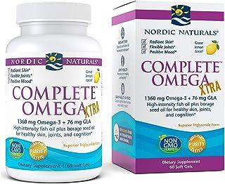 Nordic Naturals Complete Omega Xtra, Lemon - 60 Soft Gels - 1360 mg Omega-3 + 76 mg GLA - Healthy Skin, Joints & Cognition...