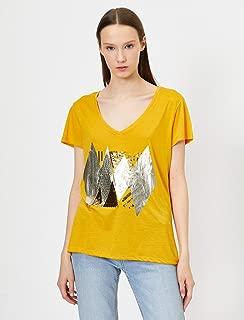 Pul Detayli T-Shirt