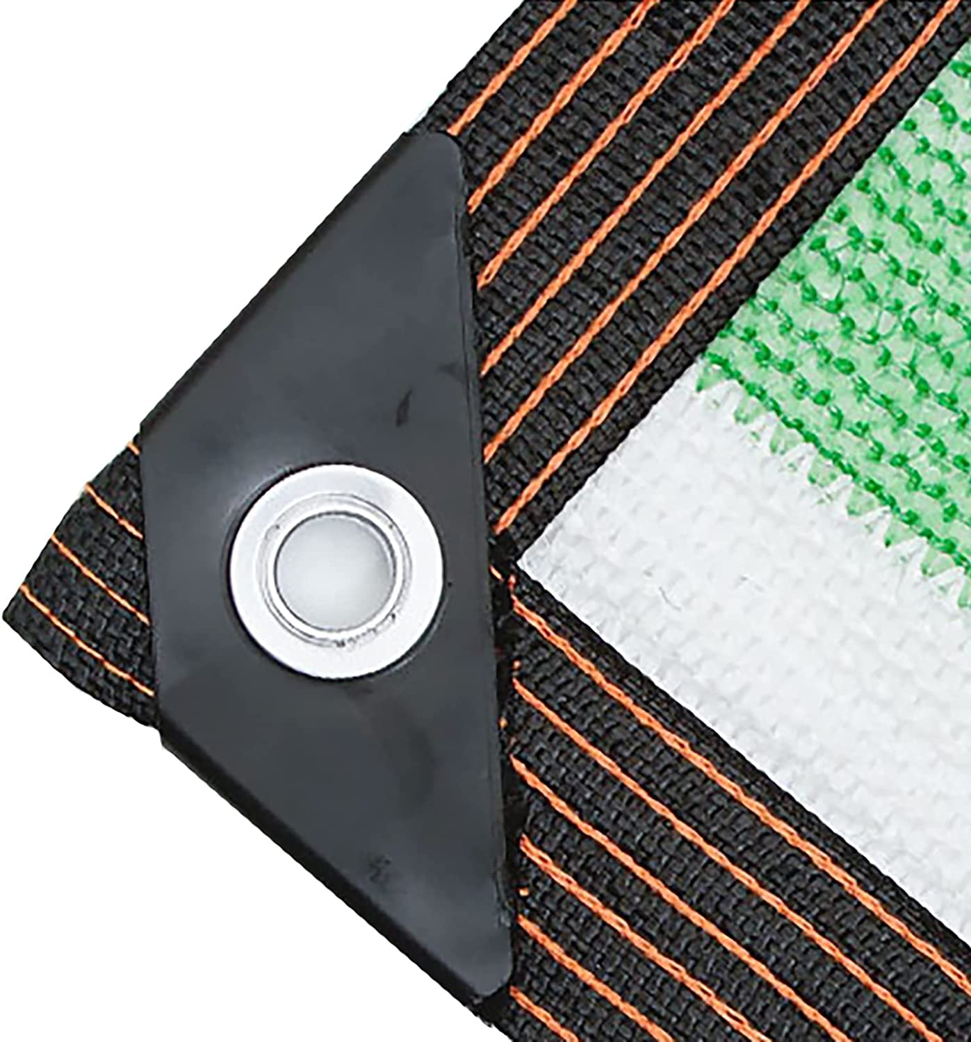 Shade Cloth White Green Rectangle 10m with Pla Purchase Rope Max 65% OFF