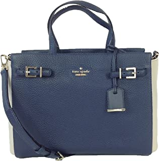 Kate Spade Holden Street Two-Tone Leather Satchel, Galaxy/Sandstone
