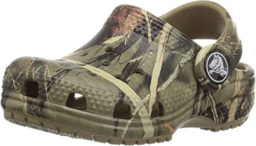 Crocs Unisex-Child Kids' Classic Realtree Clog | Camo Slip on Water Shoes
