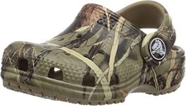 Crocs Kids' Classic Realtree Clog | Slip on Water Shoe for Toddlers, Boys, Girls, Khaki, 4 M US Big Kid