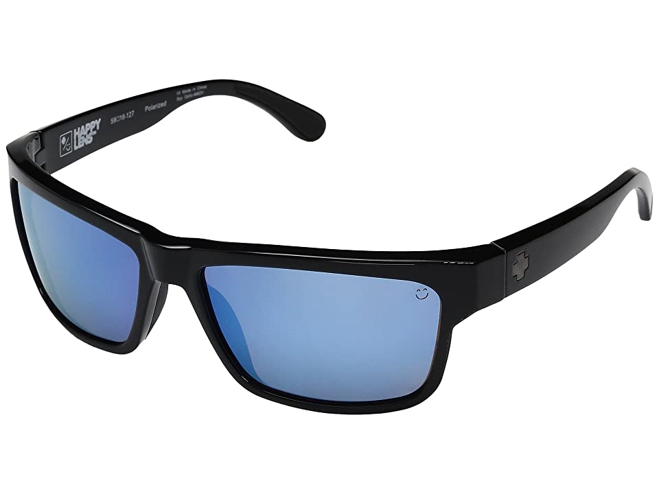 Spy Optic Frazier (Black/Happy Bronze Polar w/ Light Blue Spectra) Sport Sunglasses