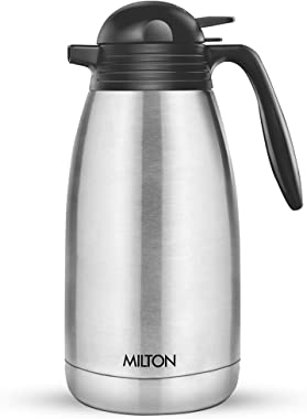 Milton Thermosteel Carafe for 24 Hours Hot or Cold, (2000 ml), Silver