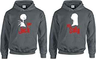 Valentine's Day Special Her Jack and His Sally Couple Hoodie Hooded Sweatshirt 1