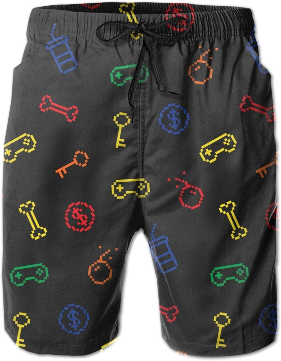 pengyong Game Video Gaming Pattern Summer Underwear Board Shorts Bathing Suits Holiday Swim Trunks Quick Dry