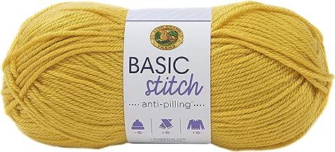 LION BRAND YARN Company 202-158 Yarn Basic Stitch an Mustard