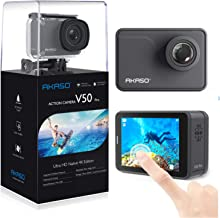 AKASO V50 Pro Native 4K30fps 20MP WiFi Action Camera with EIS Touch Screen 100 feet Waterproof Camera Web Camera Support E...