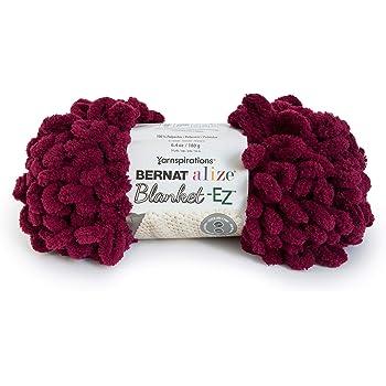 Bernat Alize Blanket-EZ Yarn, Burgundy