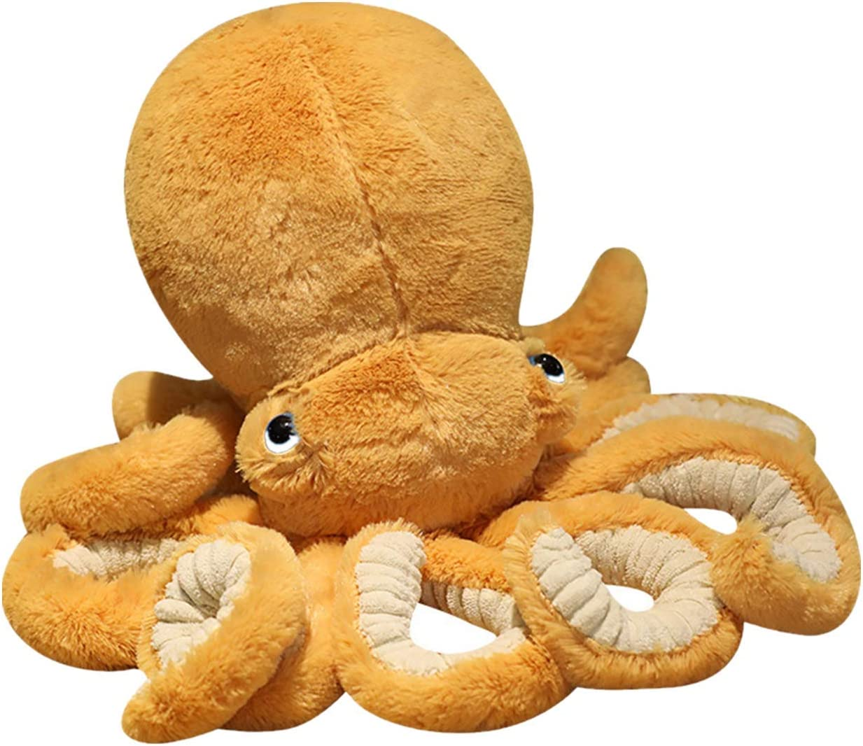 XIYUAN Stuffed Octopus Plush Toy,Octopus Stuffed Animal,Octopus Pillow,Toy Octopus, Children Pillow Plush Animal Toys ,Used for Home Decoration Gifts Yellow 12inch