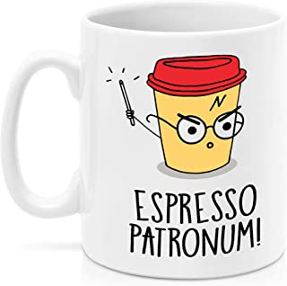 SAYOMEN - Potter Mug - Espresso Patronum, Patronum Mug, Potter Mugs, Harry Mug, Geek Coffee Mugs, Magic Mugs, Cocoa Mug, Espresso Gift, MUG 15oz