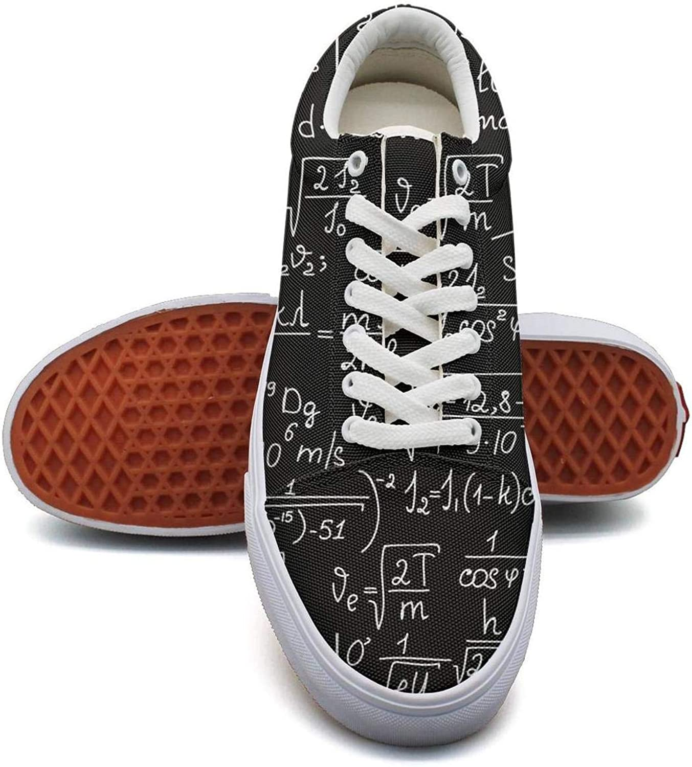 KSOWE3KD Womens Mens Mesh Up Canvas shoes Math Equations Geometry Physics Loafers Unisex Cushioning shoes