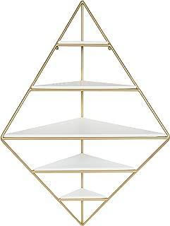 floating corner shelf unit