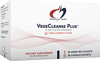 Designs for Health VegeCleanse Plus 14 Day Detox Program - Promotes Healthy Liver Function + Metabolic Cleanse with Antiox...