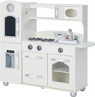 comprar comparacion Cocina de juguete grande de madera blanca de TeamsonKidsTD-11414W