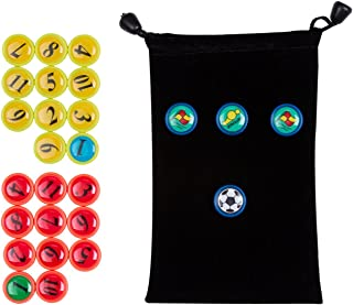 AGPTEK 26PCS Soccer Magnets, Football Magnets Tactic Coaching Strategy with Black Drawstring Bag