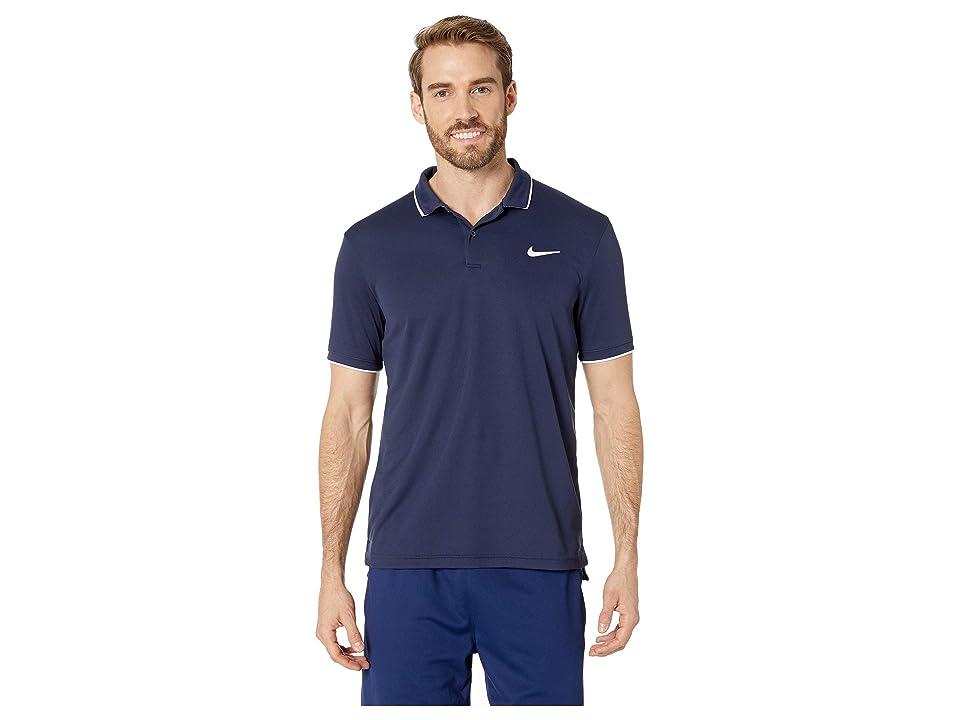 Nike NikeCourt Dry Polo Team (Obsidian/White/Obsidian) Men