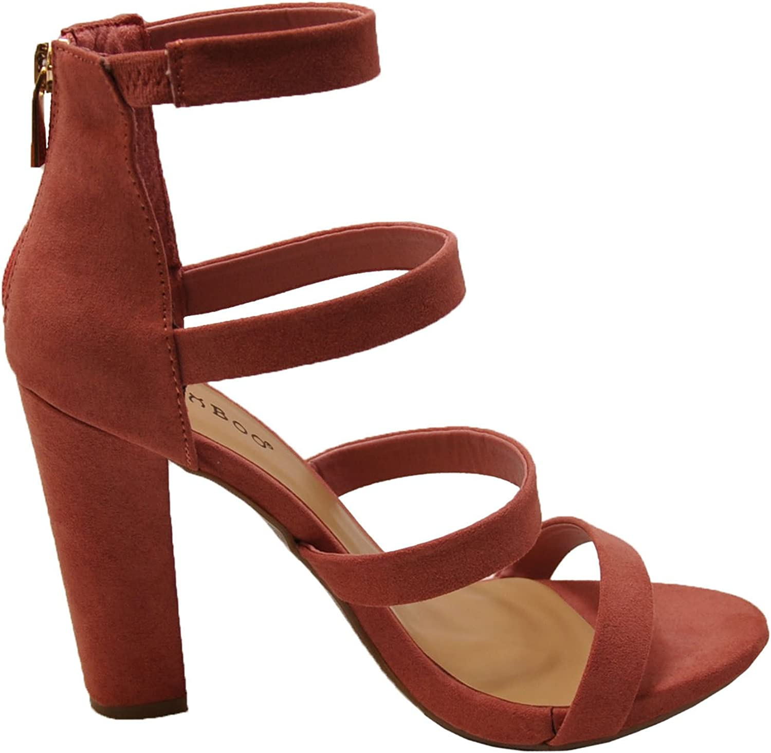 Bamboo Limelight 49M Women's Strappy Chunky Heel Sandals