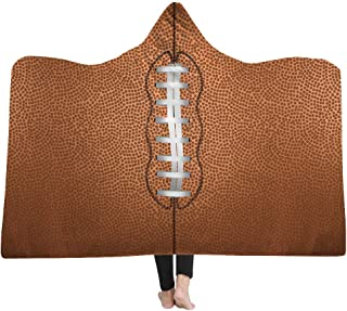 football hooded blanket