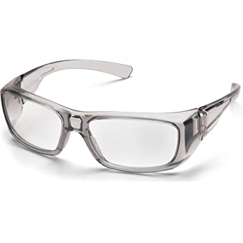 PYRAMEX SG7910D15 Pyramex Clear Safety Reader Glasses, Scratch-Resistant,Gray Frame