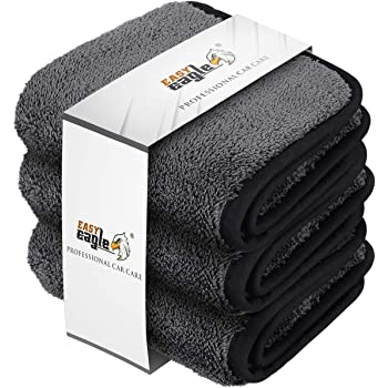 3 Pezzi 1200GSM Panno in Microfibra 30x30CM Panni per Lucidatura per la Cura del Moto o la Casa EASY EAGLE Panno Asciugatura Auto