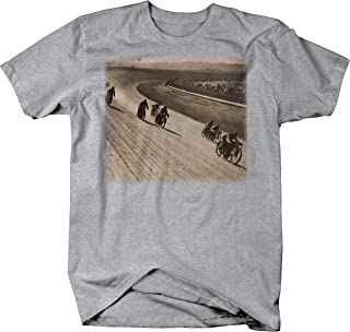 Vintage Motorcycle Wooden Race Track 1920's 1930's Racing T Shirt for Men
