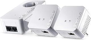 Devolo dLAN 550 WiFi Network Kit PLC - Adaptadores de red Powerline (500 Mbps, 3 x Powerline adaptadores, 1 x puerto LAN, ...