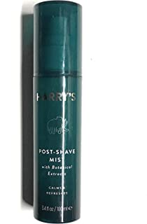 Harry's Post Shave Mist - 3.4oz with Botanical extracts essential oils including mint, eucalyptus, and tea tree