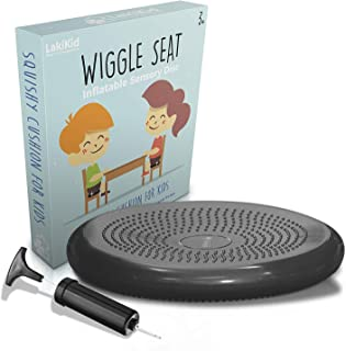 Wiggle Seats for Sensory Kids: LAKIKID Flexible Seating Classroom Furniture Series - Improving Attention - Inflatable Wobble Cushion/Wiggle Seat, Great Alternative Seating for Students, Pump Included