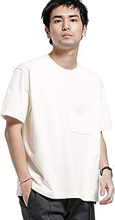 [ナノユニバース] BRING COVEROSS ロゴクルーネック Tシャツ メンズ